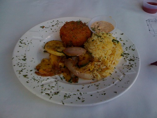 Crab Cake lunch special at Pearls Oyster House