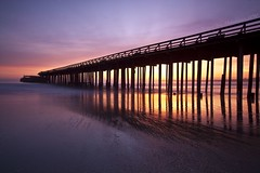 Aptos Pier - Aptos, California, USA (Rich Capture) Tags: california sunset santacruz seascape beach clouds canon landscape eos coast pier tripod highway1 richard capitola gitzo cementship oldship arcaswiss 2531 ef1635mmf28lii aptospier 5dmark2 richardmatyskiewicz matyskiewicz b1ballhead