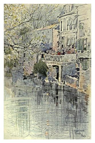 023- Metz- Casas a orillas del Moselle-Alsace-Lorraine-1918- Edwards George Wharton