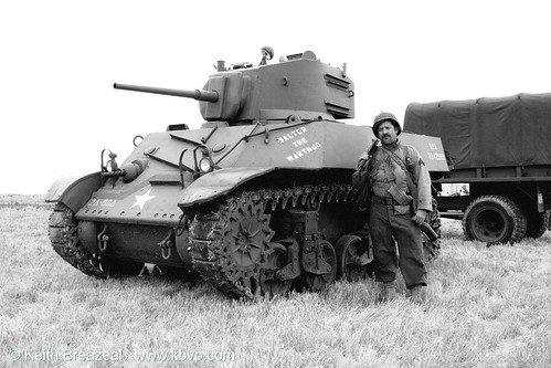 Tank and Soldier WWII © Keith Breazeal