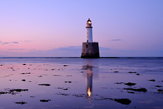 Rattray Head in the gloaming (iancowe) Tags: sunset lighthouse reflection beach evening scotland head tide low scottish stevenson buchan stfergus gloaming peterhead northernlighthouseboard rattrayhead rattray nlb crimond rattraylighthouse pwpartlycloudy