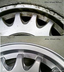 "SAAB 900 alloy wheel refurbishment before after We Fix Alloys • <a style=""font-size:0.8em;"" href=""http://www.flickr.com/photos/75836697@N06/13041423914/"" target=""_blank"">View on Flickr</a>"