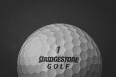 (Shona T) Tags: bw golf golfball lowkey black white blackandwhite macro sport pattern sigma105mm product canon