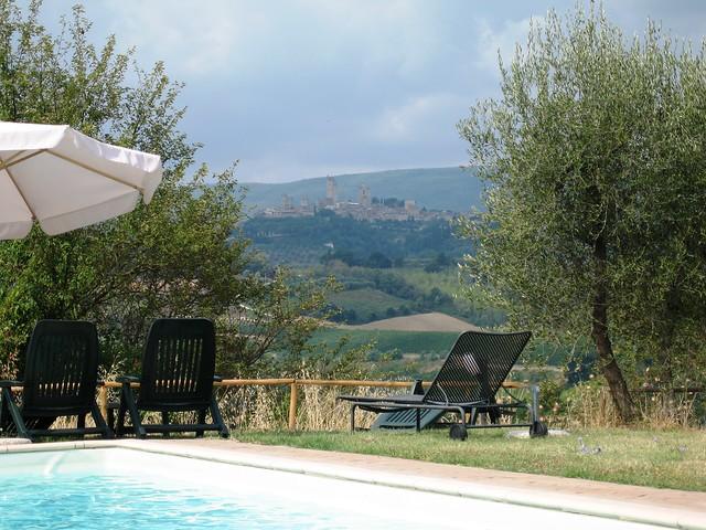 San Gimignano - View from Casolare di Remignoli