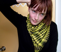 swellyellow03 (hopelesslovley) Tags: selfportrait girl yellow brownhair scalf
