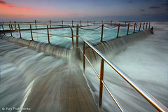 Mona Vale Pool, Sydney, Australia (-yury-) Tags: ocean longexposure morning beach pool sunrise canon waves tide sydney australia mona vale nsw 5d monavale overflowing cokin   abigfave ultimateshot