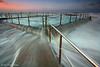 Mona Vale Pool, Sydney, Australia (-yury-) Tags: ocean longexposure morning beach pool sunrise canon waves tide sydney australia mona vale nsw 5d monavale overflowing cokin австралия океан abigfave ultimateshot сидней