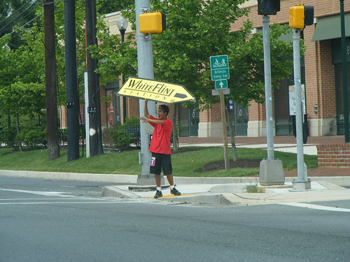 Man Waving A Sign, 355 at Old Georgetown
