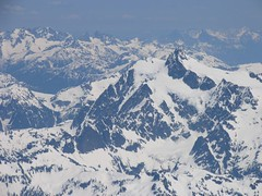 Looking east from the summit, Mt Shuksan in the foreground
