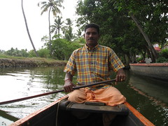 Our canoe owner (rheabeddoenyc) Tags: india kerala backwaters alleppey