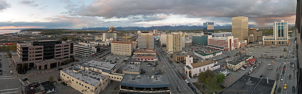Downtown Anchorage AK, Panoramic View