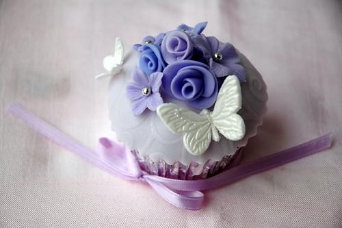 Bride's special wedding cupcake