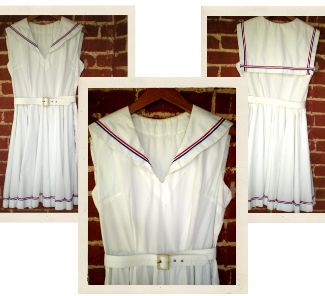 50's Cotton Sailor Dress