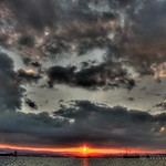 Ominous clouds over sunset (HDR)