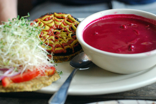 Raw Eco Burger and Raw Borscht