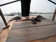Back to Shore (Awreye) Tags: lake gondolier rower baiyangdian