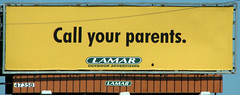Call Your Parents. (Gem Images) Tags: us texas signage lamar sanbenito publicservicemessage