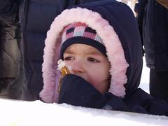Child Enjoying Maple Taffy