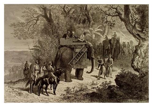 003- Viaje en elefante en la India Centra-La India en palabras e imágenes 1880-1881- © Universitätsbibliothek Heidelbergl