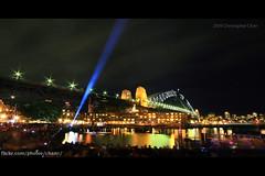 Vivid Sydney (#336) (Christopher Chan) Tags: festival canon sydney australia circularquay nsw newsouthwales 1785mm sydneyharbourbridge 30d firewater snaptweet vividsydney