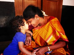 God could not be everywhere, so he created mothers. (legends2k) Tags: birthday portrait woman baby face lady mom ma lumix kid child play affection indian mother panasonic g1 mummy care amma connection proverb skanda fourthirds writeup chettinad pillayarpatti microfourthirds panasonicdmcg1