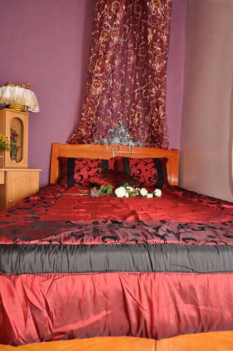 The Groom and Bride Wedding Bed