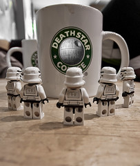 Death Star Coffee ReOrdered (andyathlon) Tags: 2 storm coffee swansea death star shot lego sony sigma troopers starbucks mocha wars a200 1020 extra deathstar venti stormies thepinnaclehof tphofweek50