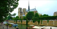Paris, quai de la Tournelle. (Grard Farenc (slowly back) !) Tags: paris france seine river notredame chruch cathdrale 75 glise quai fleuve iledelacit quaidelatournelle