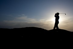 Golfing Silhouette