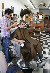 barber shop (Karol Franks) Tags: california haircut shop hair tile losangeles google floor south moose andrew barber johnny oldfashion pasadena buzzcut bing bens razor shears copyrighted okarol karolfranks memorycornerportraits aingworth pleasedonotuseimageswithoutmypermission