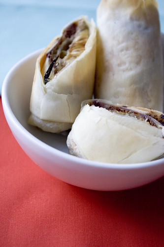 Eggplant and Hummus Rolls