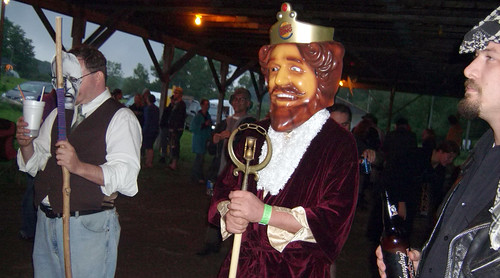20090703 - X-Day - GEDC0265 - un-costume ball - Christopher Lee, Burger King, Rev. Carter LeBlanc - please click through to leave a comment on FlickR