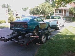 @project240z is loaded for trip to colorado. #going2colorado
