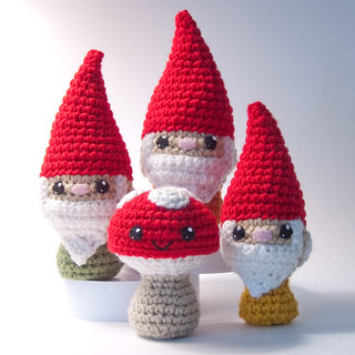 Free Amigurumi Gnome Pattern : Ravelry: Crocheted Lil Gnome pattern by Lisa Eberhart