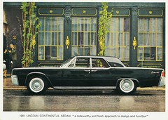 1961 Lincoln Continental Sedan (aldenjewell) Tags: sedan postcard continental lincoln 1961