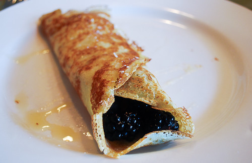a dinner from france: crepes