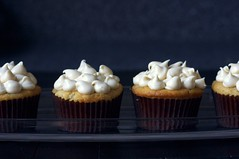 Peach Cupcakes with Brown Sugar Cream Cheese Frosting
