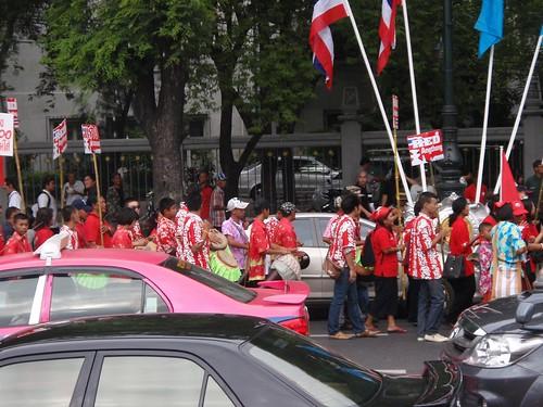 Manifestación política en Bangkok