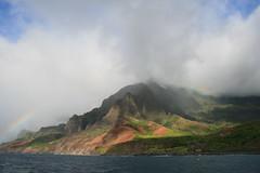 Rainbow on the Na Pali Coast (Joyce and Steve) Tags: hawaii kauai napalicoast