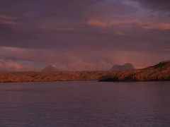 Sunset across the Bay (Gwen!!) Tags: sunset water bay suilven culkein canisp platinumphoto