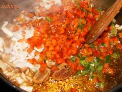 noodles de teriyaki con kombu-añadir ingredientes