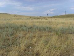 Two hills () Tags: summer sky grass village russia country dry hills poles samara