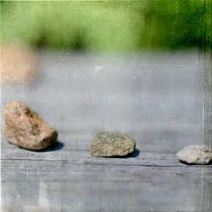 Knucklebones (Maureen F.) Tags: 3 texture colors rocks dof bokeh squared rockgame ifanyoneknowswherethistextureisfromletmeknow iforgottotagthistexture