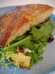 goat cheese and honey sandwich