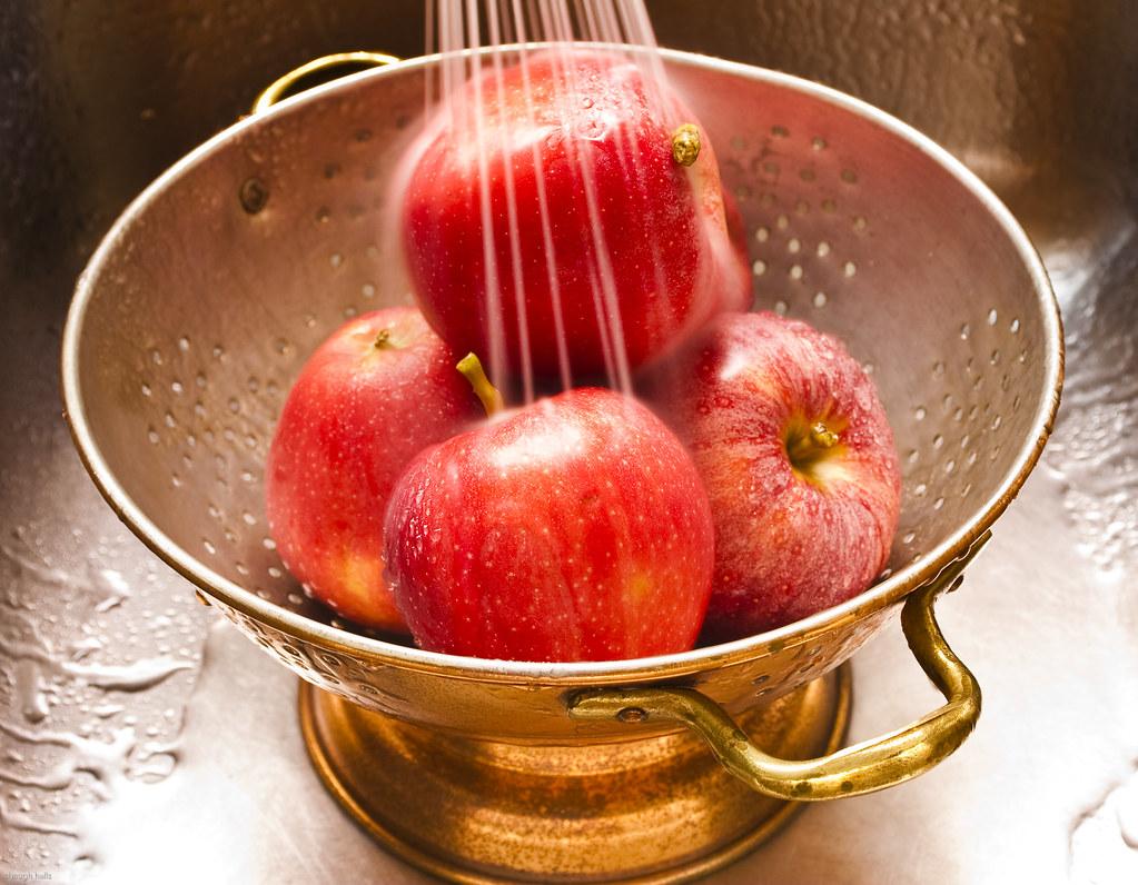 Apples in Copper Colander