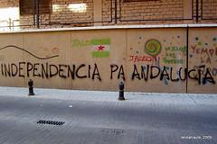 Independencia (Landahlauts) Tags: libertad graffiti freedom andaluca europa europe grafiti nation granada andalusia andalusien pintada pais andalousie independencia politica andalusie autodeterminacion andaluz jaleo alandalus nacion andaluzia  autodeterminacin askatu nacionalidad  andaluzja andaluzio    blancayverde   arbonaida           nacinandaluza  pasandaluz    andalouzia andalusiya