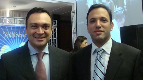 Douglas Ochoa y Augusto Moronta, de Movistar