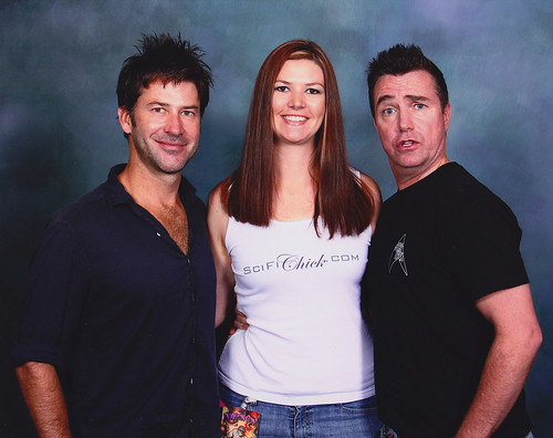 Joe Flanigan, Me, and Paul McGillion