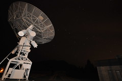 DRAO dish & Big Dipper (Mr. Freek) Tags: canada radio stars bc dish britishcolumbia okanagan space telescope exploration penticton array bigdipper radiotelescope whitelake drao dominionastrophysicalobservatory