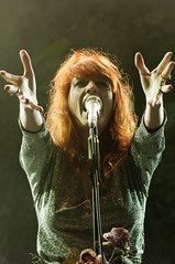 Florence from Florence & the Machine Freedom Festival 2009 (garystafford.co.uk) Tags: hullfreedomfestival2009 florence welch machine hull east riding uk band group music photography guitar rock pop stage lights atmosphere garystafford